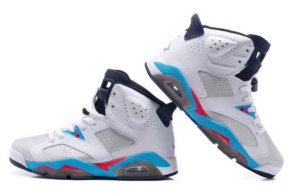 Air Jordan 6 Retro Shoes white/blue red